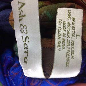 ash & sara Jackets & Coats - Ash & Sara 100% silk quilted reversible jacket
